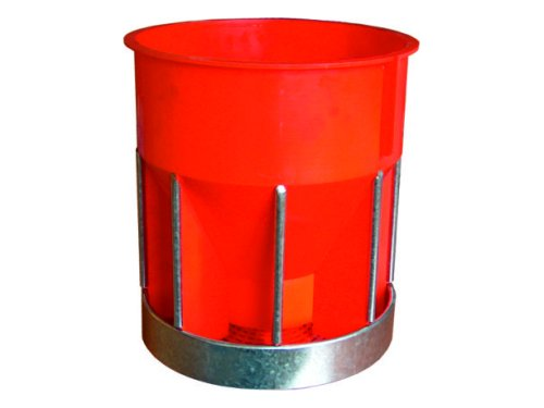 ROUND FEEDER FOR RABBITS WITH STAINLESS PROTECTION
