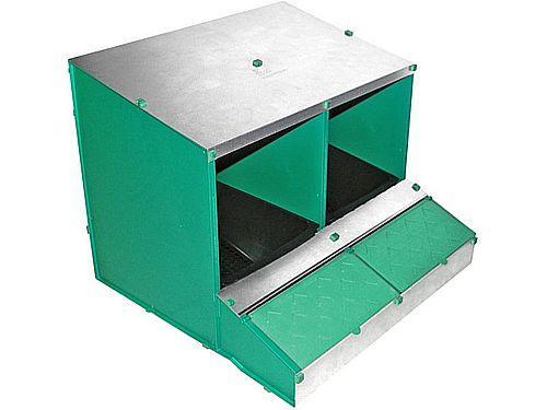 2 SLOT DETACHABLE NEST BOX WITH REAR