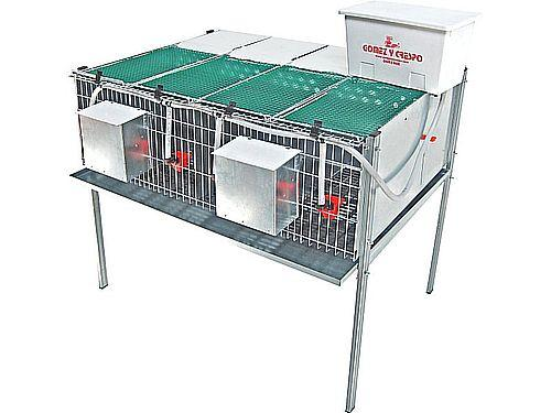 4 COMPARTMENT PARTRIDGE CAGE