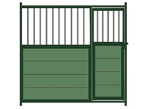 MIXED FRONTAL PANEL ( METAL BARS) FOR KENNEL