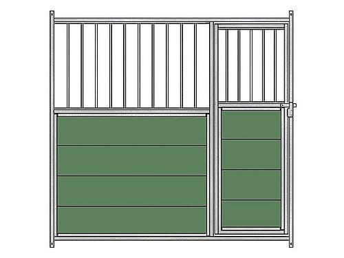MIXED FRONTAL PANEL ( METAL BARS) FOR GALVANISED KENNEL