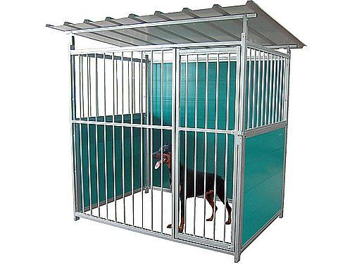 2X1,35M GALVANISED KENNEL