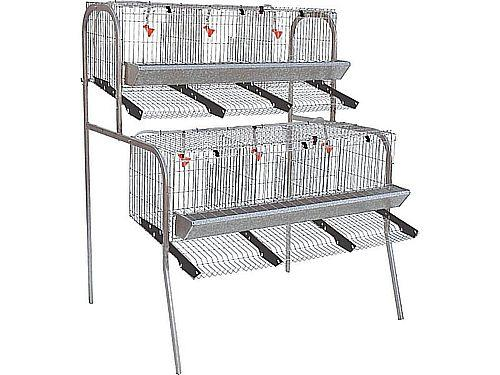 2 LEVEL HEN CAGE