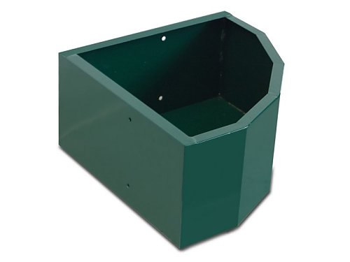GREEN LACQUERED WALL CORNER FEEDER