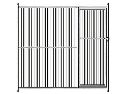 FRONT PANEL 5cm FOR KENNEL GALVANISED BARS